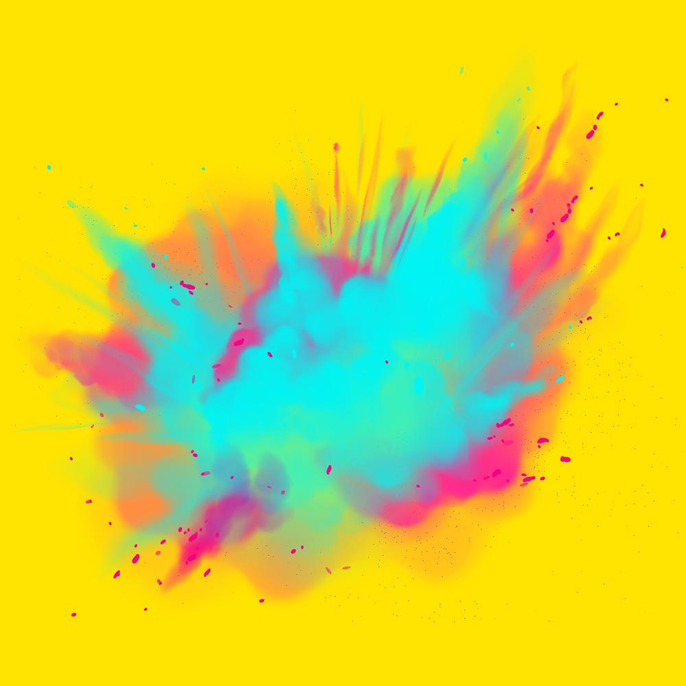 We zien door het palet de kleuren niet meer